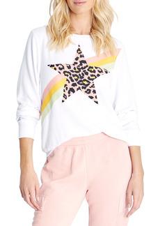Women's Wildfox Leopard Star Graphic Sweatshirt