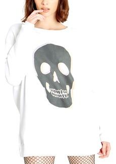 Women's Wildfox Roadtrip Skull Graphic Pullover