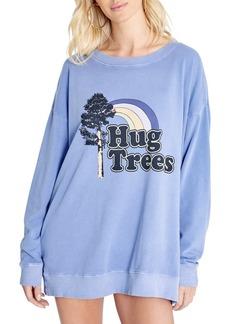 Women's Wildfox Roadtrip Tree Hug Graphic Sweatshirt