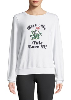 Wildfox Yule Love It Graphic Pullover Sweater