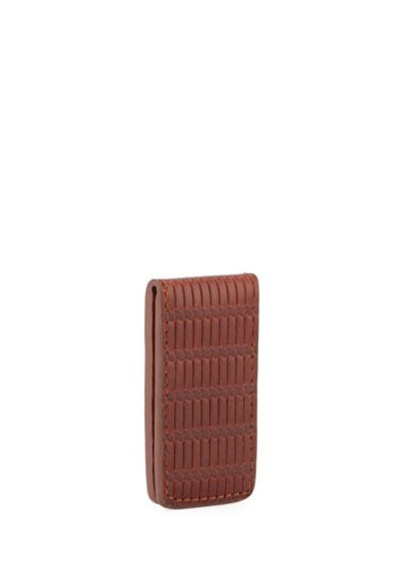 Will Leather Goods Milton Woven Leather Money Clip