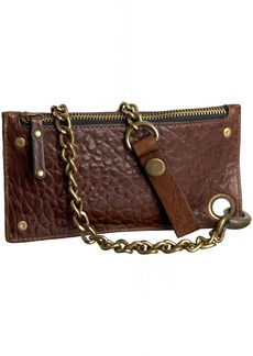 Will Leather Goods Will Leather Zip Pouch Wallet with Chain