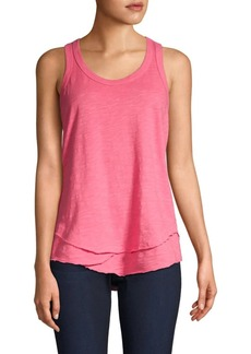 Wilt Shrunken Mock Hem Cotton Tank Top