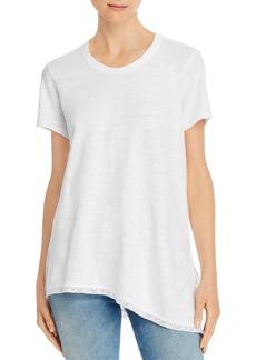 Wilt Asymmetric Lace-Hem Tunic Tee