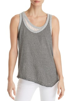 Wilt Asymmetric Layered-Look Striped Tank