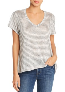 Wilt Asymmetric Striped Linen Tee