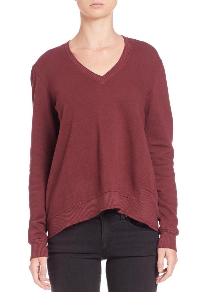 Wilt Asymmetrical Cotton Pullover