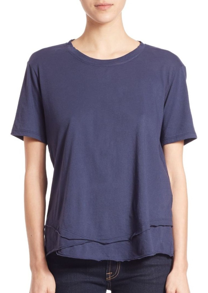 Wilt Cotton Mock-Layer Tee