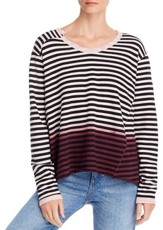 Wilt Easy Dip-Dye Striped Sweatshirt