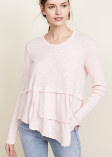 Wilt Layered Tee with Ribbed Sleeves