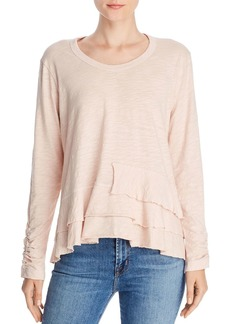 Wilt Long Sleeve Layered-Hem Tee