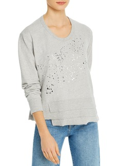 Wilt Metallic Splatter Asymmetric Sweatshirt