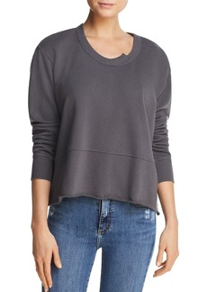 Wilt Raw-Edge Boxy Sweatshirt