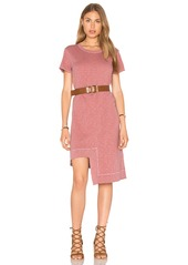 Wilt Rib Mix Uneven Hem Tee Dress