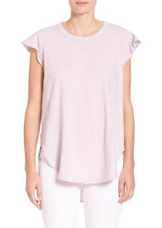 Wilt Round Neck Shirttail Top