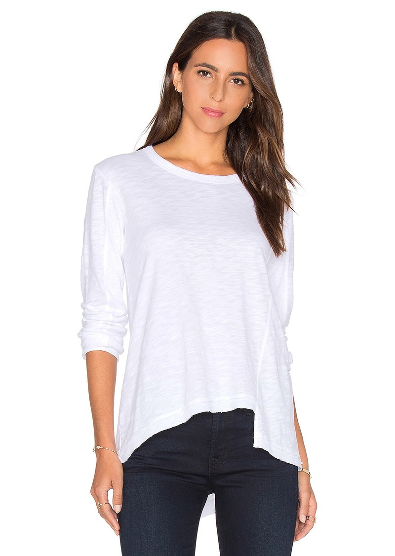 Wilt Slouchy Shifted Slant Long Sleeve Top
