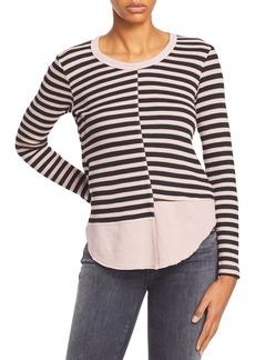 Wilt Striped Asymmetric Seam Top