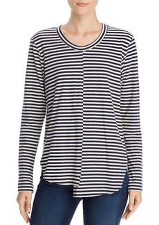 Wilt Striped Long Sleeve Asymmetric Tee