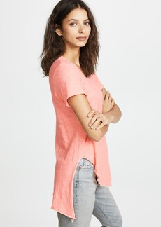 Wilt Textured Scoopy Mixed Hem Tee