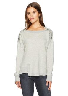 Wilt Women's Button Shoulder Slouchy Sweatshirt  M