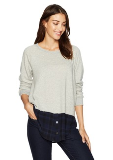 Wilt Women's Mock Layered Sweatshirt  L