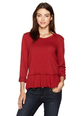 Wilt Women's Mock Layyered Shrunken Crew L/s  M