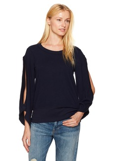 Wilt Women's Open Sleeve Crop Sweat T  XS