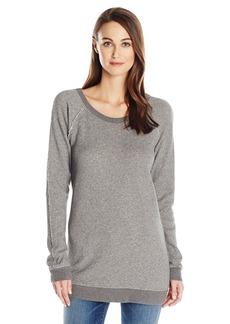Wilt Women's Raw Raglan Tunic Sweatshirt  M