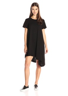 Wilt Women's Raw Slant Hem Trapeze Dress