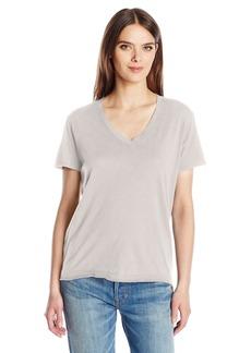 Wilt Women's Shrunken V-Neck Backslant Short Sleeve  S