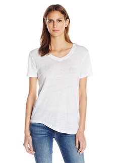 Wilt Women's Shrunken V-Neck Teist Hem  M