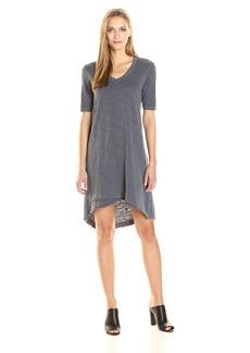 Wilt Women's V-Neck Dress Mock Hem  L