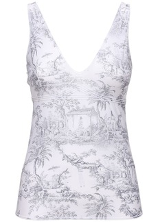 Wolford Antoinette Printed Stretch Jersey Top