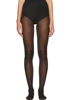 Wolford Black Cotton Velvet Tights