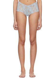Wolford Blue Katherina Boy Shorts