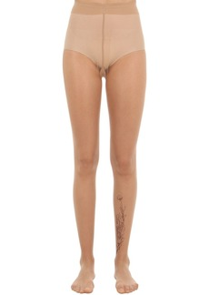 Wolford Carin Silver Tattoo Tights
