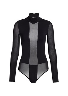 Wolford Diane Long Sleeve String Bodysuit