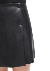 Wolford Edie Faux Leather Mini Skirt