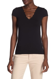 Wolford Grace Lace-Up T-Shirt