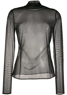 Wolford mock neck tulle top