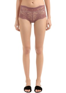 Wolford Plush Lace String Briefs