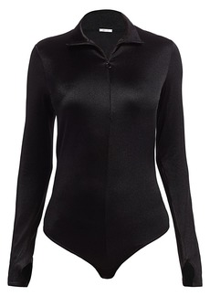Wolford Shimmering Glass Long-Sleeve Bodysuit