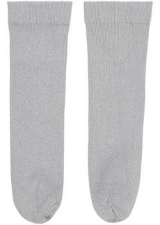 Wolford Silver Joan Lurex Socks