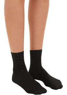 Wolford Swarovski Crystals Embellished Socks