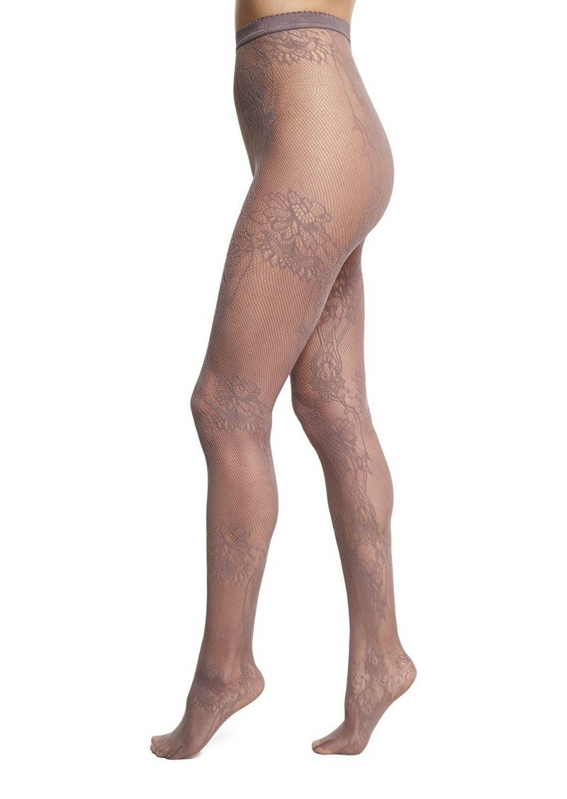 9032c3cba Wolford Trailing Flowers Net Lace Tights