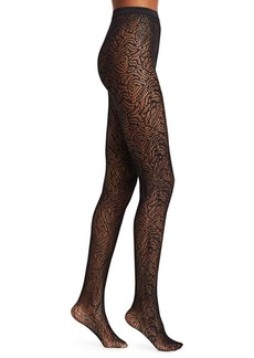 Wolford True Blossom Netted Tights