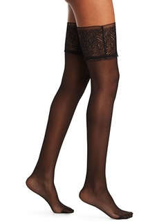 Wolford True Blossoms Stay-Up Thigh Stockings