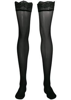 Wolford velvet light stay-ups