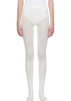Wolford White Cotton Velvet Tights