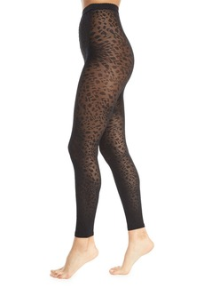 Wolford Avril Leopard-Print Footless Tights